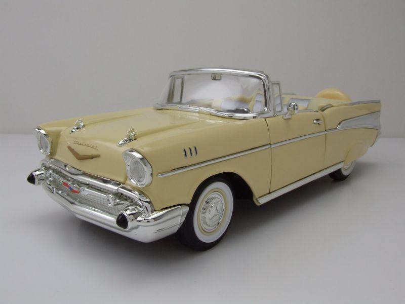 Car M Bel Len chevrolet bel air convertible 1957 gelb modellauto 1 18 lucky die cast 39 95