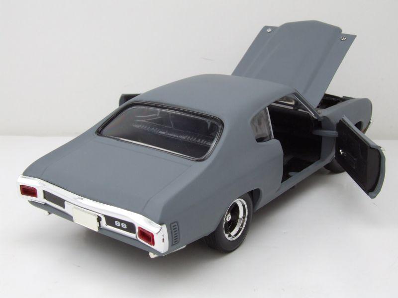 modellauto chevrolet chevelle 1970 matt grau fast and furious modellauto 1 18 ertl 39 50. Black Bedroom Furniture Sets. Home Design Ideas
