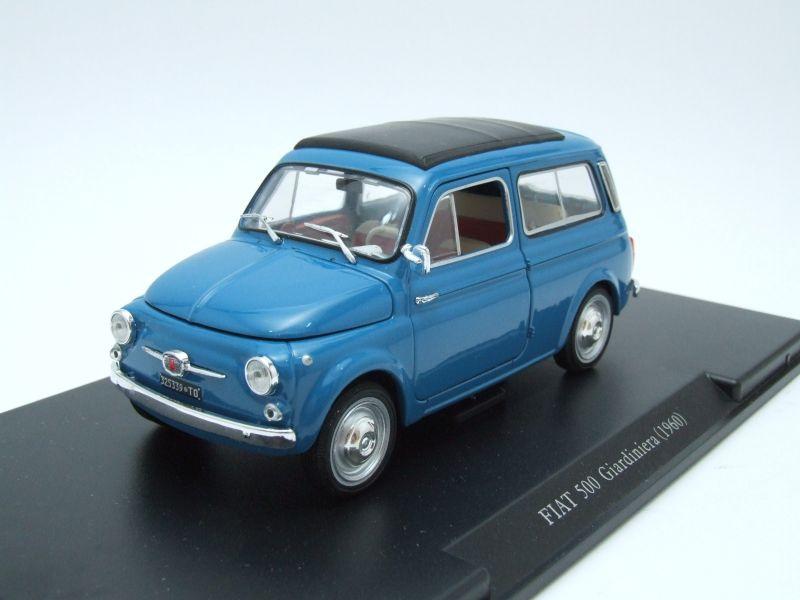 fiat 500 giardiniera 1960 blau modellauto 1 24 leo. Black Bedroom Furniture Sets. Home Design Ideas