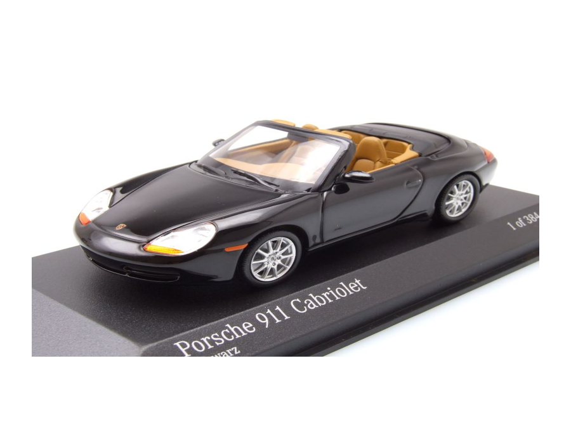 modellauto porsche 911 996 cabrio 1998 schwarz metallic. Black Bedroom Furniture Sets. Home Design Ideas