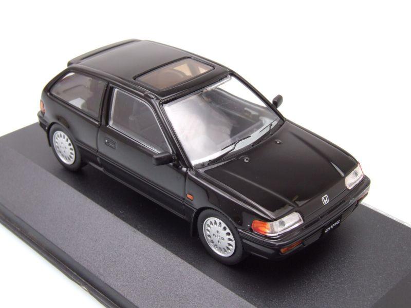 honda civic 1987 schwarz modellauto 1 43 triple9 23 95. Black Bedroom Furniture Sets. Home Design Ideas