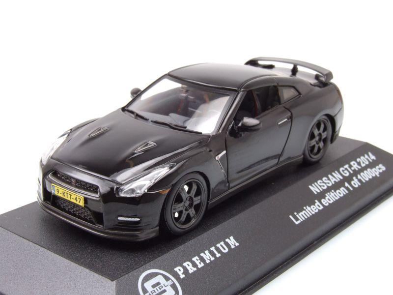 nissan gt r r35 2014 schwarz modellauto 1 43 triple9. Black Bedroom Furniture Sets. Home Design Ideas