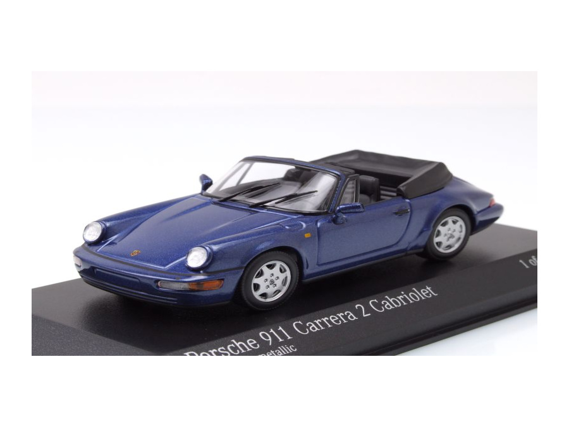 porsche 911 964 carrera 2 cabrio 1990 blau metallic. Black Bedroom Furniture Sets. Home Design Ideas