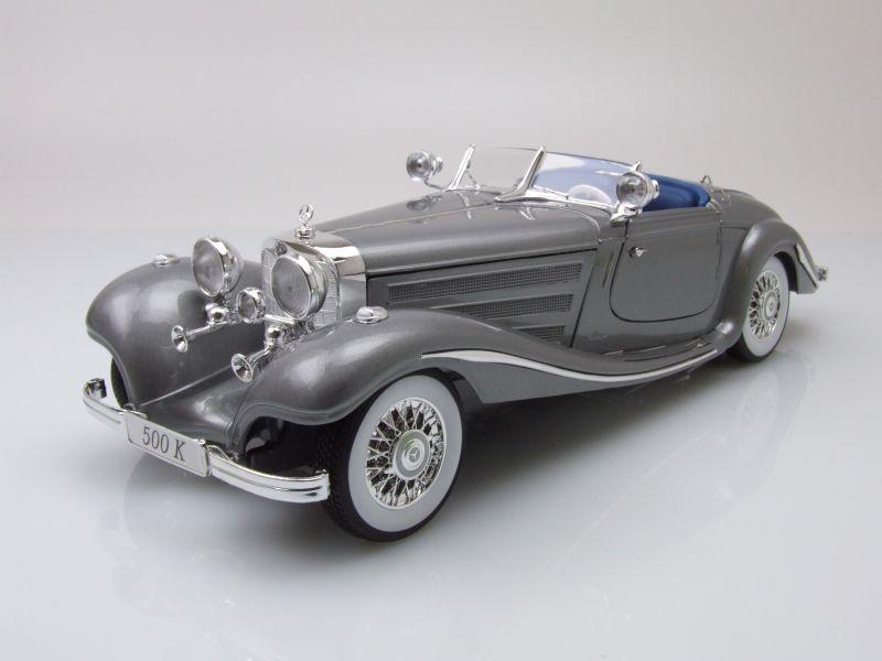 mercedes 500 k spezial roadster 1936 grau metallic. Black Bedroom Furniture Sets. Home Design Ideas