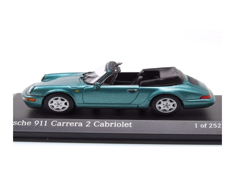 964 Carrera 2 Cabrio 1990 rot Modellauto 1:43 Minichamps Porsche 911