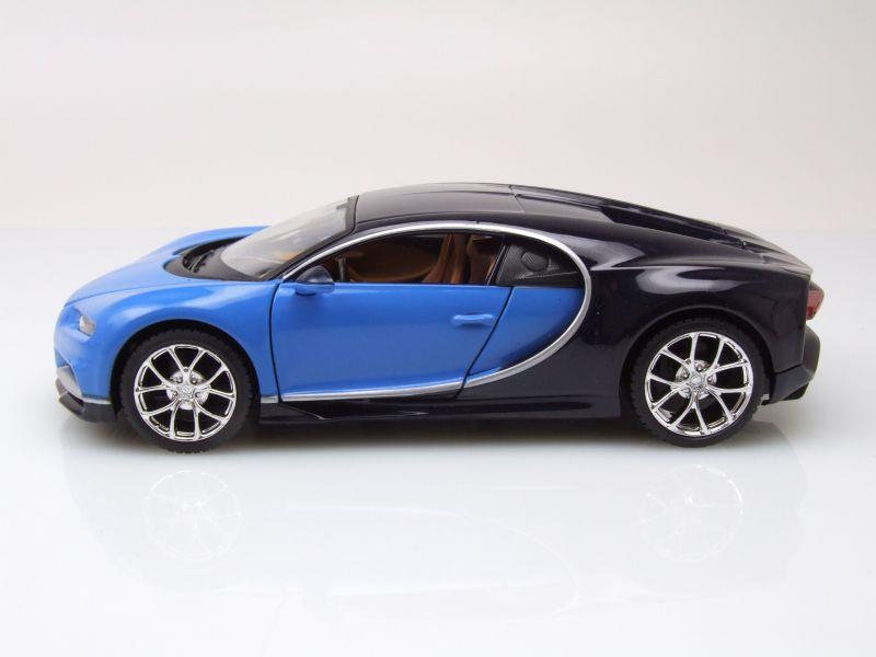bugatti chiron 2016 blau dunkelblau modellauto 1 24. Black Bedroom Furniture Sets. Home Design Ideas