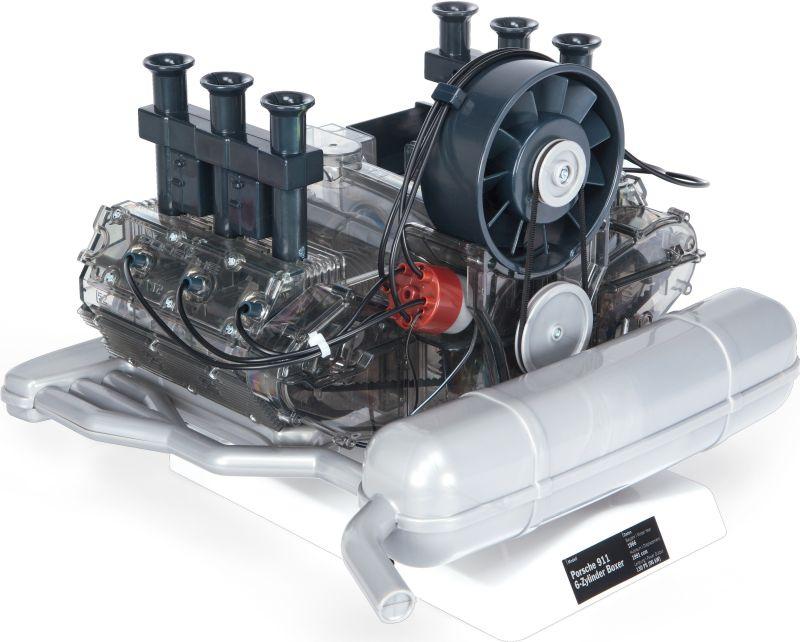 porsche 911 6 zylinder boxermotor bausatz 1 4 franzis. Black Bedroom Furniture Sets. Home Design Ideas