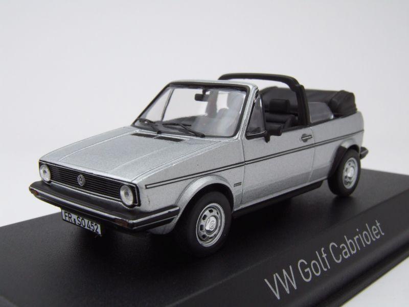modellauto vw golf 1 cabrio 1981 silber modellauto 1 43. Black Bedroom Furniture Sets. Home Design Ideas