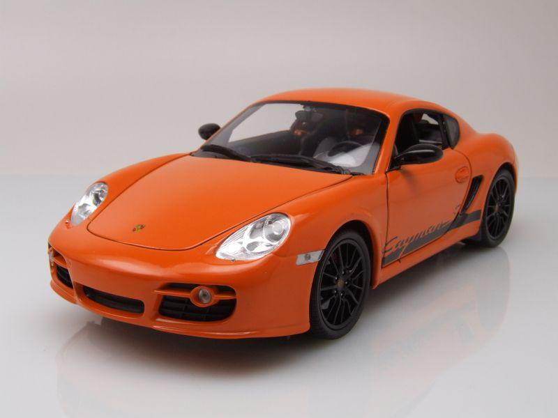 porsche cayman s 2008 orange modellauto 1 18 welly 32 50. Black Bedroom Furniture Sets. Home Design Ideas