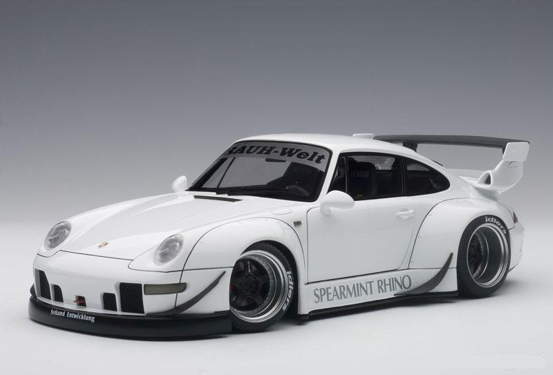 porsche 911 993 rwb rauh welt wei modellauto 1 18. Black Bedroom Furniture Sets. Home Design Ideas