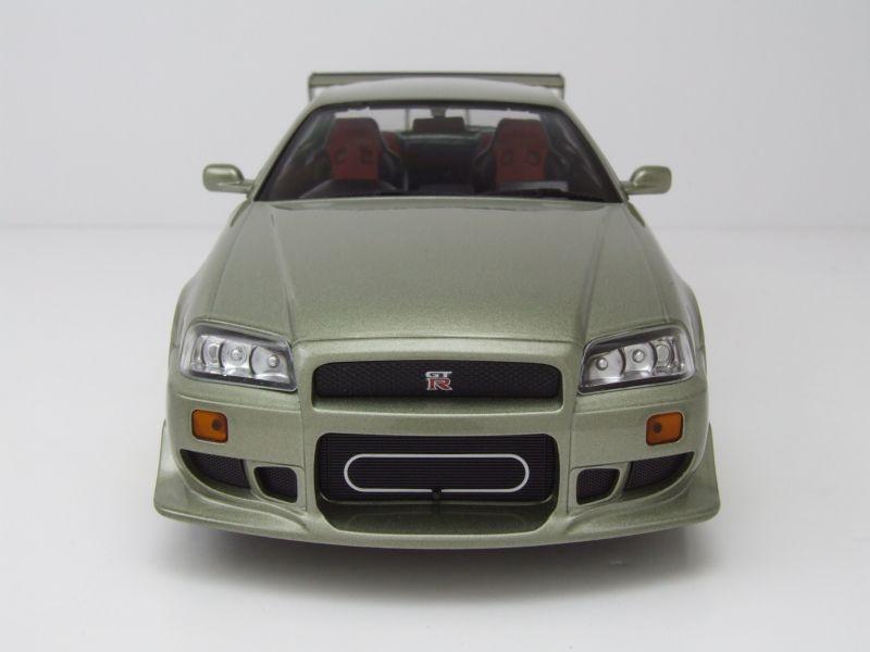 nissan skyline gt r r34 1999 grau metallic modellauto 1 18. Black Bedroom Furniture Sets. Home Design Ideas