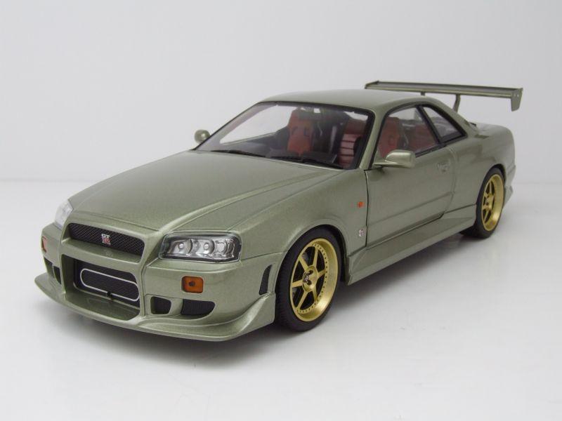 Nissan Skyline GT-R R34 Fast /& Furious mit blauen LED Modellauto 1:18 Greenlight