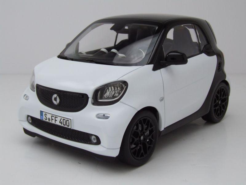 Modellauto Smart Fortwo 2015 Weißschwarz Modellauto 118 Norev 6895