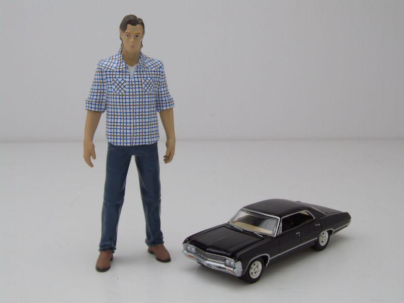 Chevrolet Impala Sedan 1967 Supernatural schwarz Modellauto 1:24 Greenlight