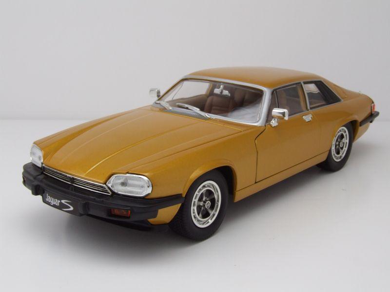 jaguar xjs 1975 gold metallic modellauto 1 18 lucky die. Black Bedroom Furniture Sets. Home Design Ideas
