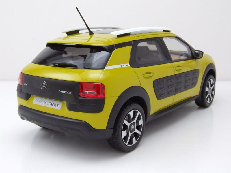citroen c4 cactus 2014 gelb schwarz modellauto 1 18. Black Bedroom Furniture Sets. Home Design Ideas
