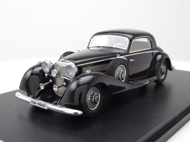 mercedes 540k sport coupe 1936 schwarz modellauto 1 43. Black Bedroom Furniture Sets. Home Design Ideas