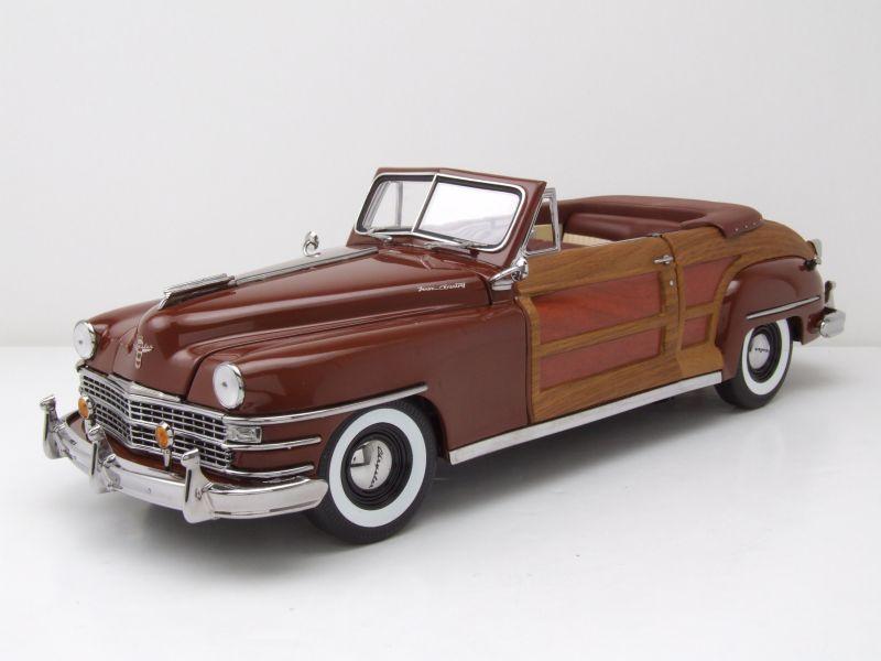 Sun Star Chrysler Town and Country 1948 braun//woody Modellauto 1:18