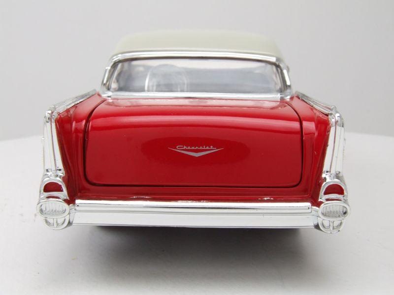 Car M Bel Len chevrolet bel air 1957 rot weiß modellauto 1 24 toys 27 95