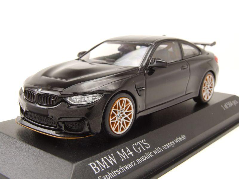 Modellauto Bmw M4 Gts 2016 Schwarz Metallic Mit Orangenen Felgen