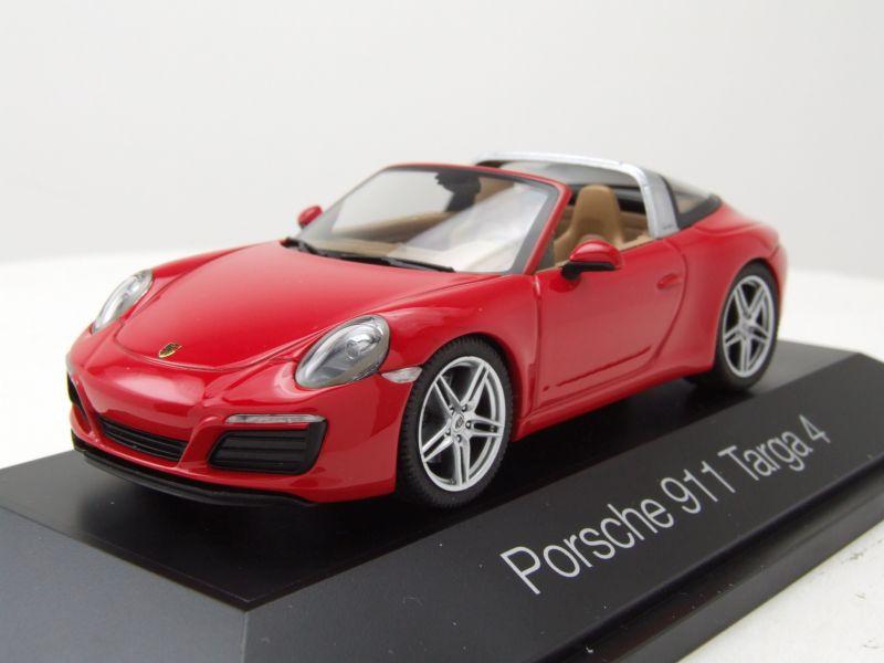 4 Targa 2012 rot Modellauto 1:43 Herpa 991 Porsche 911