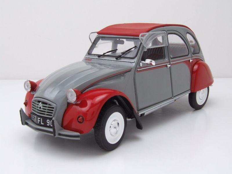 modellauto citroen 2cv 6 dolly ente 1985 grau rot modellauto 1 18 solido 39 50. Black Bedroom Furniture Sets. Home Design Ideas