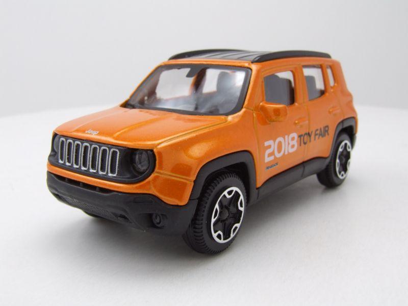 jeep renegade toy fair 2018 orange metallic modellauto 1 43 burago 6 95. Black Bedroom Furniture Sets. Home Design Ideas