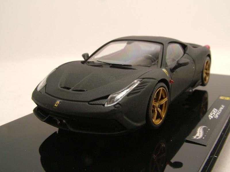 Modellauto Ferrari 458 Speciale 2013 Matt Schwarz Modellauto 1 43 Hot Wheels Elite 49 95