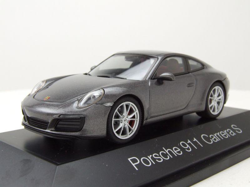 modellauto porsche 911 991 carrera s achat grau metallic. Black Bedroom Furniture Sets. Home Design Ideas