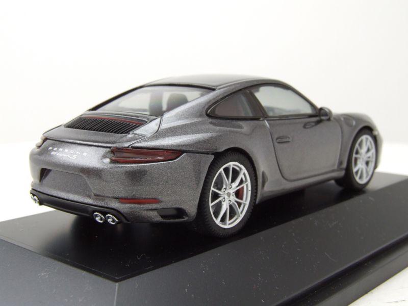 modellauto porsche 911 991 carrera s achat grau metallic modellauto 1 43 herpa 37 95. Black Bedroom Furniture Sets. Home Design Ideas