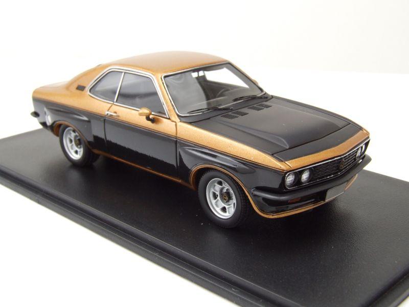 Opel Manta TE 2800 1974 gold schwarz Modellauto 1:43 Neo Scale Models
