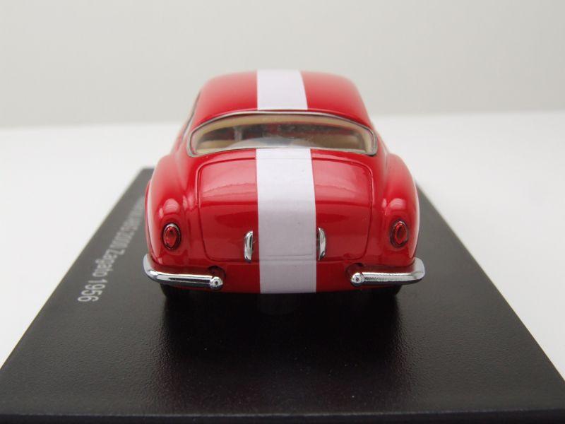Maserati A6G 2000 Zagato 1956 rot weiß Modellauto 1:43 Neo Scale Models