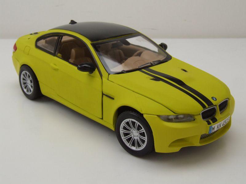 BMW M3 Coupe 2008 gelb Modellauto 1:24 Motormax