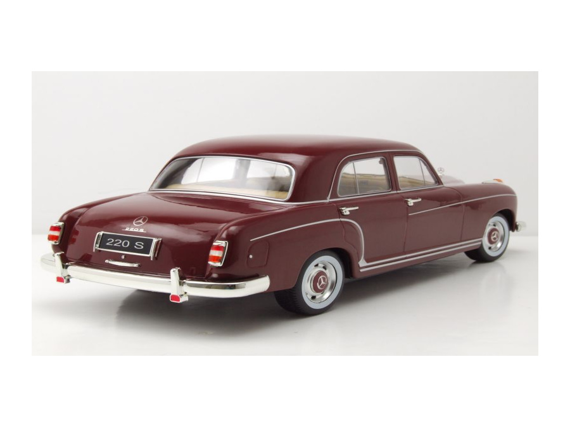 Mercedes 220S Ponton Limousine W180 1956 dunkelrot Modellauto 1:18 KK Scale