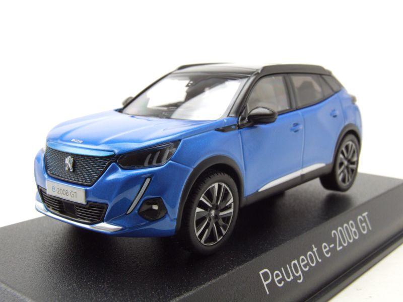 Peugeot E-2008 GT 1:43 mit Schlüsselanhänger blau-Metallic 2019
