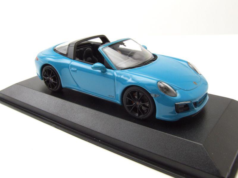 Porsche 911 Targa 4 GTS Cabrio 2016 blau Modellauto 1:43 Minichamps 991.2