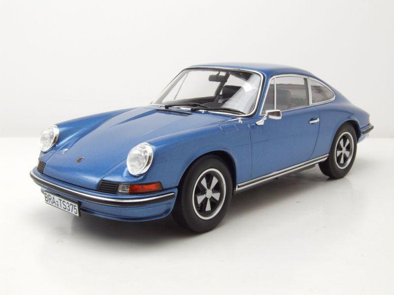 Porsche 911 S 1973 blau metallic Modellauto 1:18 Norev
