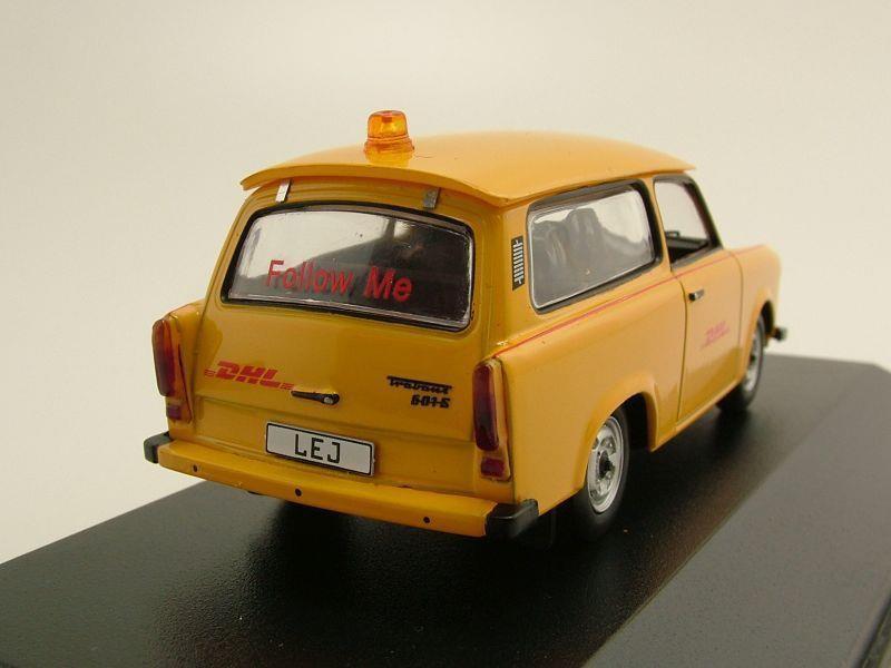 trabant 601 follow me dhl hub leipzig gelb modellauto 1. Black Bedroom Furniture Sets. Home Design Ideas
