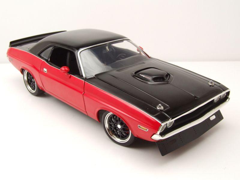Dodge Challenger R//T Street Fighter 1970 rot schwarz Modellauto 1:18 Acme