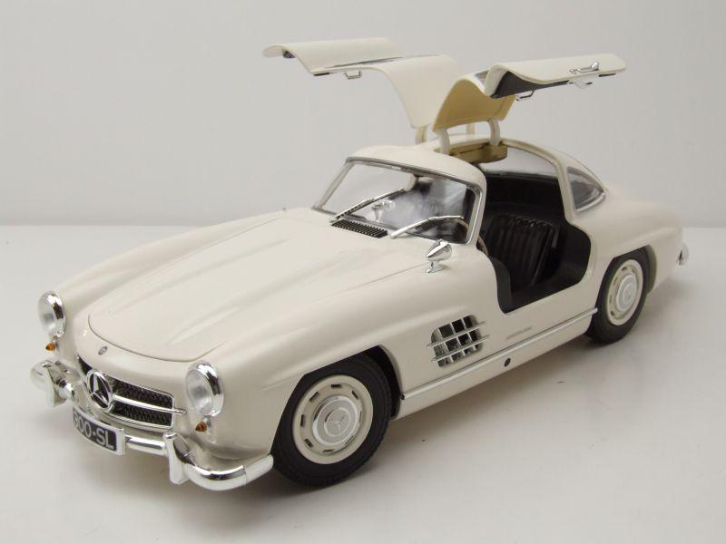 Busch 40800-weiss H0 PKW Mercedes 300 SL weiß