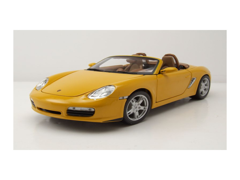 porsche boxster s 2005 gelb modellauto 1 18 maisto 37 95. Black Bedroom Furniture Sets. Home Design Ideas