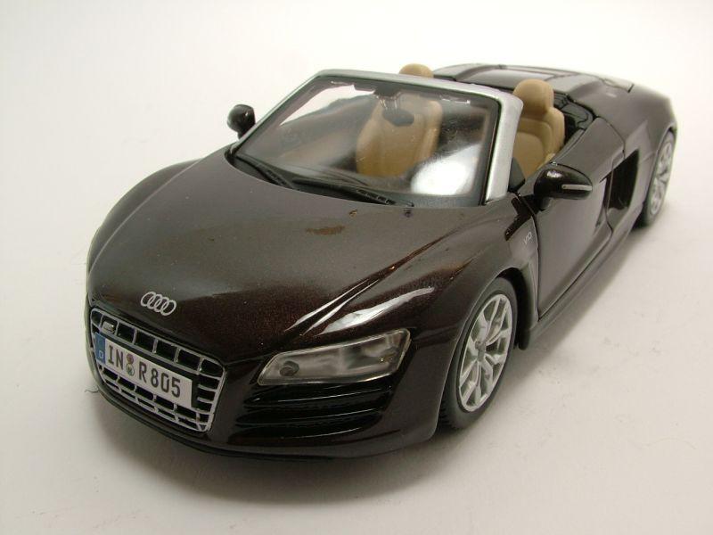 audi r8 spyder v10 braun metallic modellauto 1 24. Black Bedroom Furniture Sets. Home Design Ideas