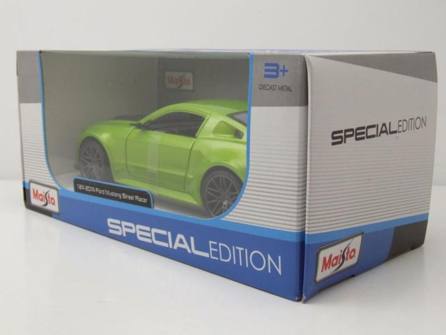 1:24 Ford Mustang Street Racer 2014 Metall Modellauto Spielzeug Silber Sammlung