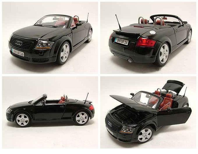 audi tt roadster 1999 schwarz modellauto 1 18 maisto. Black Bedroom Furniture Sets. Home Design Ideas