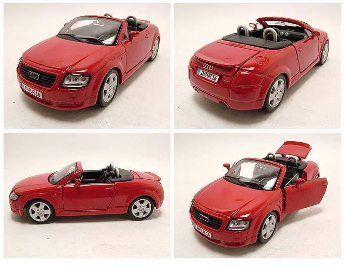 audi tt roadster rot modellauto 1 24 maisto 19 95. Black Bedroom Furniture Sets. Home Design Ideas