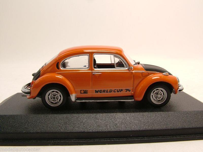 vw k fer 1303 world cup 1974 orange modellauto 1 43. Black Bedroom Furniture Sets. Home Design Ideas