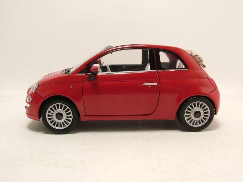 fiat 500 cabrio 2007 rot modellauto 1 18 motormax 36 95. Black Bedroom Furniture Sets. Home Design Ideas
