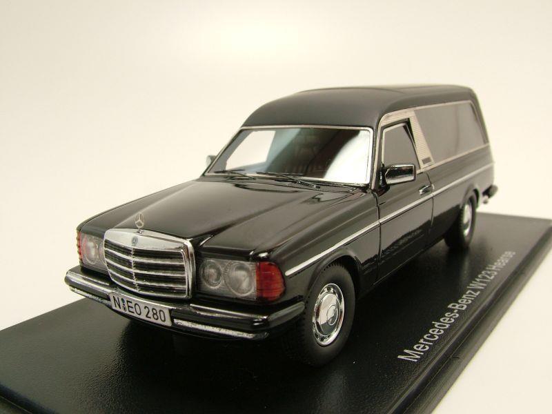 mercedes w123 bestattungswagen 1978 schwarz modellauto. Black Bedroom Furniture Sets. Home Design Ideas
