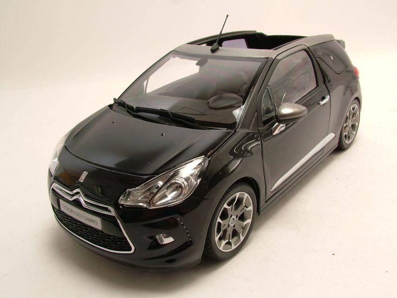 modellauto citroen ds3 cabrio 2013 schwarz graues dach. Black Bedroom Furniture Sets. Home Design Ideas