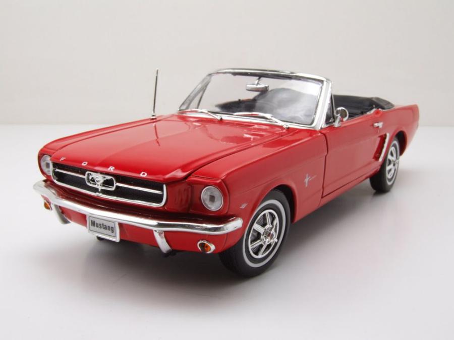 ford mustang cabrio 1964 5 rot modellauto 1 18 welly modellautocenter modellauto. Black Bedroom Furniture Sets. Home Design Ideas